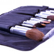 Closed-up set of make-up brushes — Stock Photo