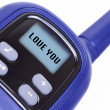 Sign I Love You on radio transmitter - Stock Photo
