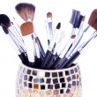 Professional brushes in can — Stock fotografie