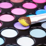 Palette for make-up artist — Stock Photo