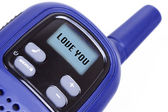 Sign I Love You on radio transmitter — Stock Photo