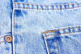 Part of blue jeans — Stock Photo