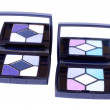 Closed-up two palette  with mirror - Stok fotoğraf