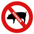 Danger swine flu — Stock Photo