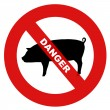 Danger swine flu — Stock Photo #1614210