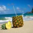 Pina colada with pipe — Stockfoto