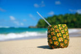 Pinacolada on a coastline — Stock Photo