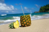 Pina colada with pipe — Stock Photo
