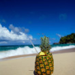 Royalty-Free Stock Photo: Pinacolada cocktail on a sand