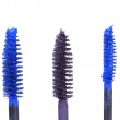 Royalty-Free Stock Photo: Three mascara brushes  on white