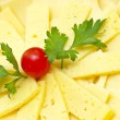 Cheese plate background — Stock Photo