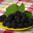 Royalty-Free Stock Photo: Plate of blackberries