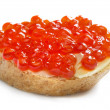Royalty-Free Stock Photo: Red caviar open sandwich