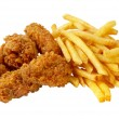 Stock Photo: Chicken and French fries