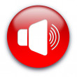 Loud speaker button — Stockfoto