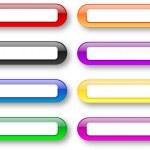 Colored empty badges set — Stock Photo