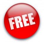 FREE button — Stock Photo