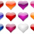 Royalty-Free Stock Photo: Glossy hearts set