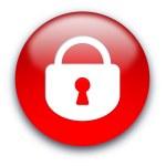 Closed lock button — Stock Photo