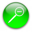 Magnifier button — Foto de Stock
