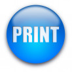 Print button — Stock Photo