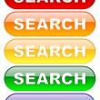 Search buttons set — Stock Photo