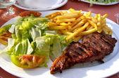 Steak dinner — Stock Photo