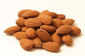 Heap of almonds — Stock Photo