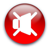Loud speaker mute button — Stock Photo