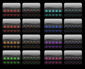 Hi-Fi buttons — Stockfoto
