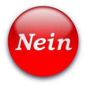 Nein button — Stock Photo