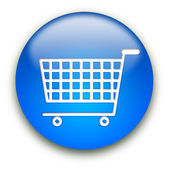 Shopping cart-knappen — Stockfoto