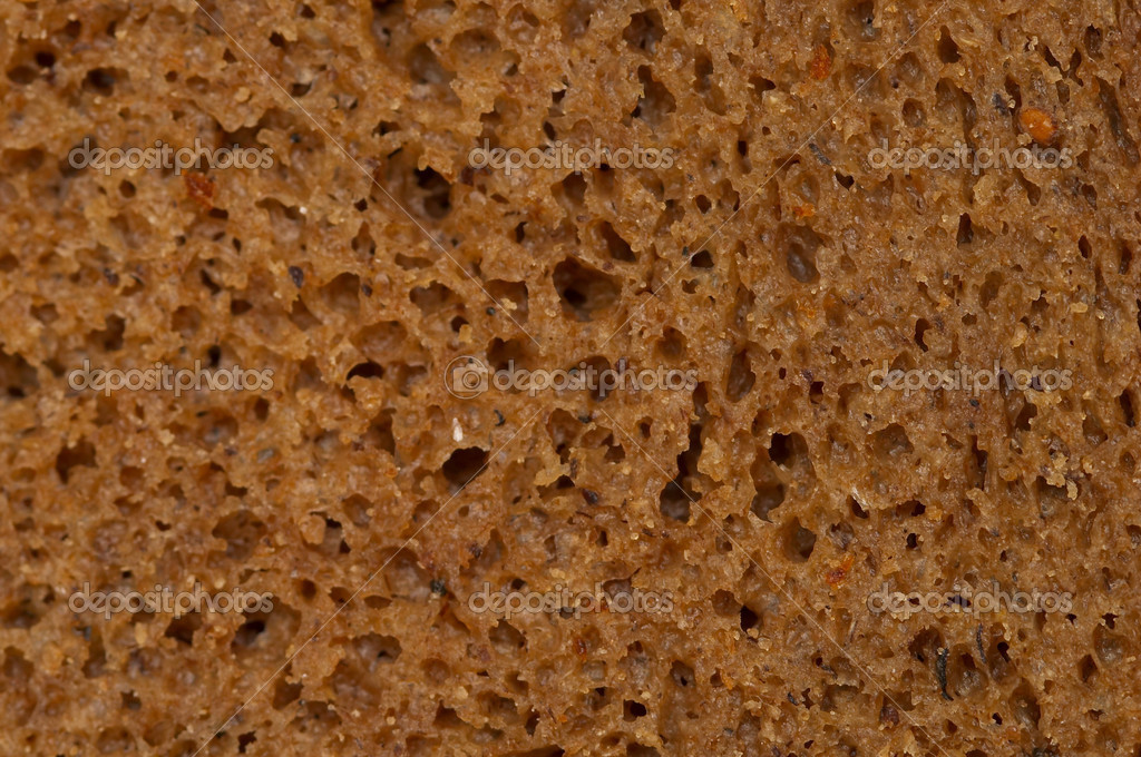 Rye black bread texture macro detailed shot (shallow depth of field)  Stock Photo #1040643