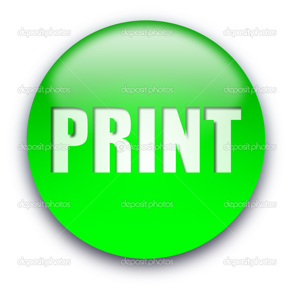 Print button — Stock Photo © grublee #1045396