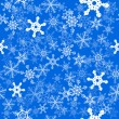 Stock Vector: Snowflakes seamless background