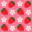 Strawberry wallpaper background — Stock Vector