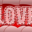 Love banner — Stock Photo