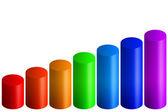 Rainbow bars graph — Stock Photo