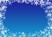 Snowflakes frame — Stock Photo