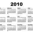 Royalty-Free Stock Vector Image: Vector 2010 calendar template