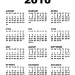 Stock Vector: Vector 2010 calendar template