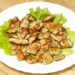 Roasted chicken slice — Stock Photo