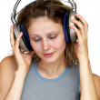 Listening the music — Stock Photo