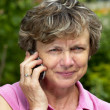 Royalty-Free Stock Photo: Senior on call