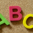 letras ABC — Foto Stock