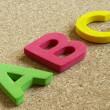 ABC letters — Stock Photo