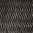 Black rubber zigzag texture — Stock Photo
