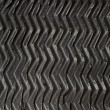 Stock Photo: Black rubber zigzag texture