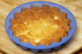Baked cheese pudding — Stock Photo