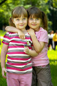 Two girlfrends — Stock Photo